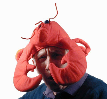 Man with Lobster on Head