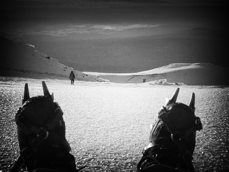 Mount Adams - Summit Still-Life with Crampons